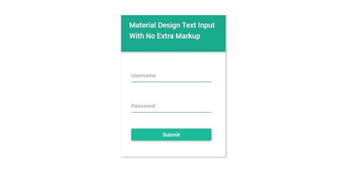 Form in stile Material design