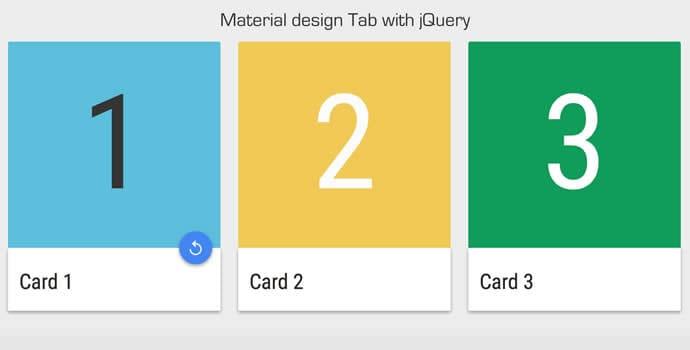 Tabs in stile Material Design con jQuery